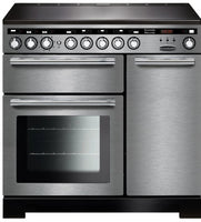 Rangemaster Encore Deluxe EDL90EISS/C 90cm Electric Range Cooker - Stainless Steel/Chrome Trim