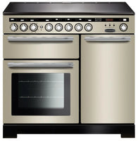 Rangemaster Encore Deluxe EDL100EIIV/C 100cm Electric Range Cooker with Induction Hob - Ivory/Chrome Trim