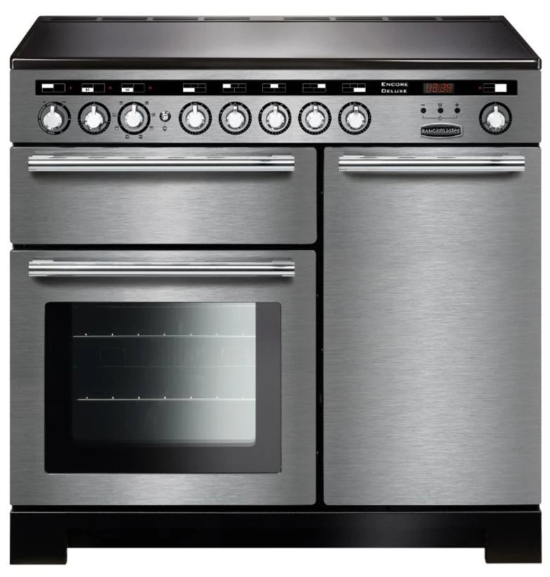 Rangemaster Encore Deluxe EDL100EISS/C 100cm Electric Range Cooker with Induction Hob - Stainless Steel