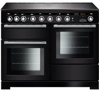 Rangemaster Encore Deluxe EDL110EIBL/C 110cm Electric Range Cooker with Induction Hob - Black/Chrome Trim