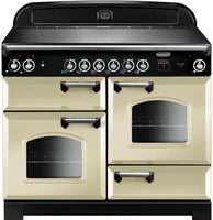 Rangemaster Classic CLA110ECCR/C 110cm Electric Range Cooker with Ceramic Hob - Cream/Chrome Trim