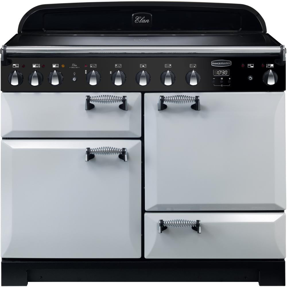 Rangemaster Elan Deluxe ELA110EIRP 110cm Electric Range Cooker with Induction Hob - Royal Pearl