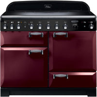 Rangemaster Elan Deluxe ELA110EICY 110cm Electric Range Cooker with Induction Hob - Cranberry/Chrome Trim