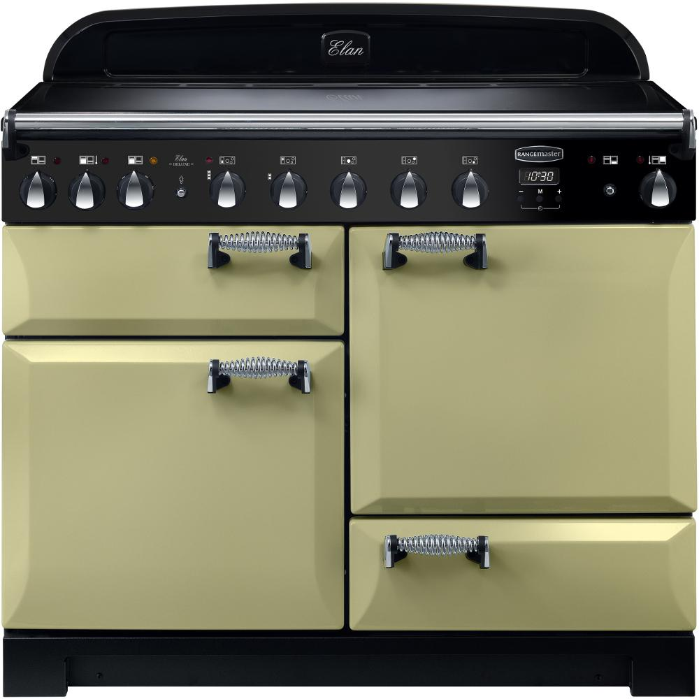 Rangemaster Elan Deluxe ELA110EIOG 110cm Electric Range Cooker with Induction Hob - Olive Green