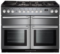 Rangemaster Nexus SE NEXSE110DFFSS/C 110cm Dual Fuel Range Cooker - Stainless Steel/Chrome Trim