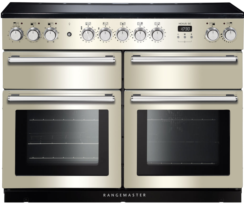 Rangemaster Nexus SE NEXSE110EIIV/C 110cm Electric Range Cooker with Induction Hob - Ivory/Chrome Trim