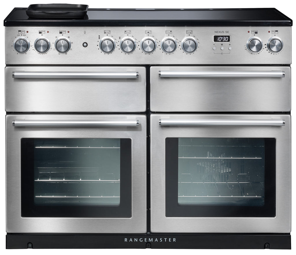 Rangemaster Nexus SE NEXSE110EISS/C 110cm Electric Range Cooker with Induction Hob - Stainless Steel/Chrome Trim
