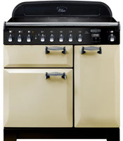 Rangemaster Elan Deluxe ELA90EICR 90cm Electric Range Cooker with Induction Hob - Cream/Chrome Trim