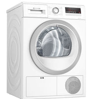 Bosch Serie 4 WTH85222GB 8Kg Heat Pump Condenser Tumble Dryer - White - A++ Rated