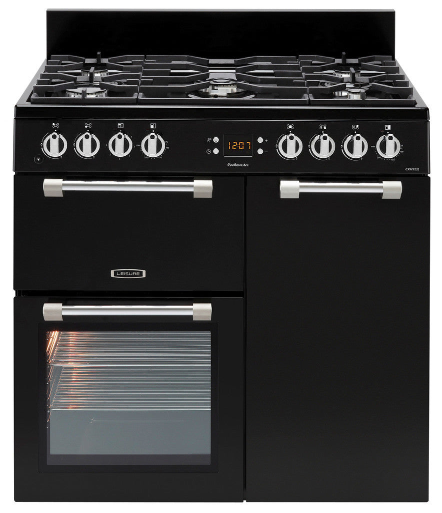 Leisure Cookmaster 90 Dual Fuel Range Cooker Black - Moores Appliances Ltd.
