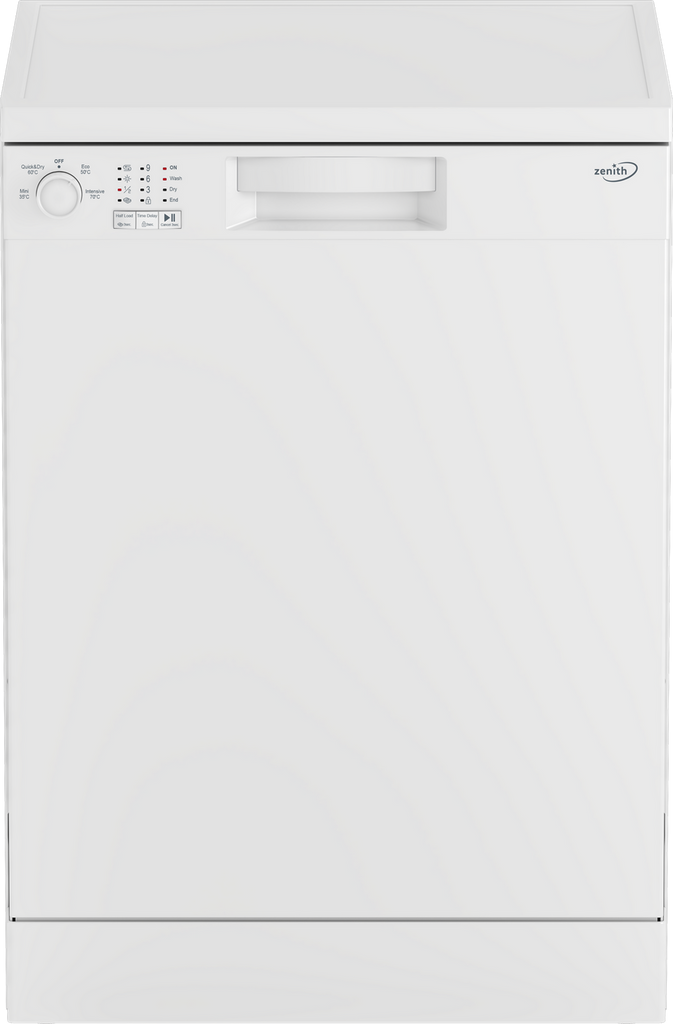 Zenith ZDW600W Standard Dishwasher - White - F Rated