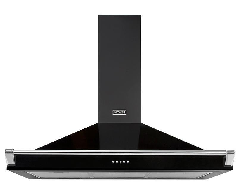Stoves Richmond S1000 100cm Chimney Hood - Black