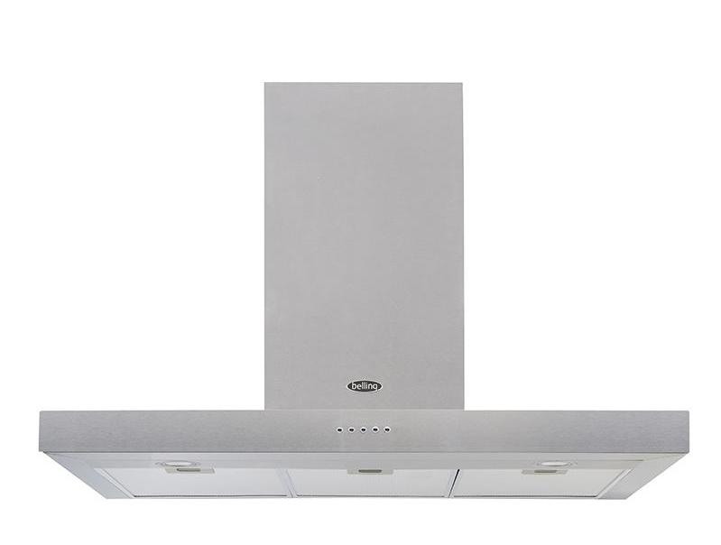 Belling Cookcentre 90 FLAT 90cm Chimney Hood - Stainless Steel