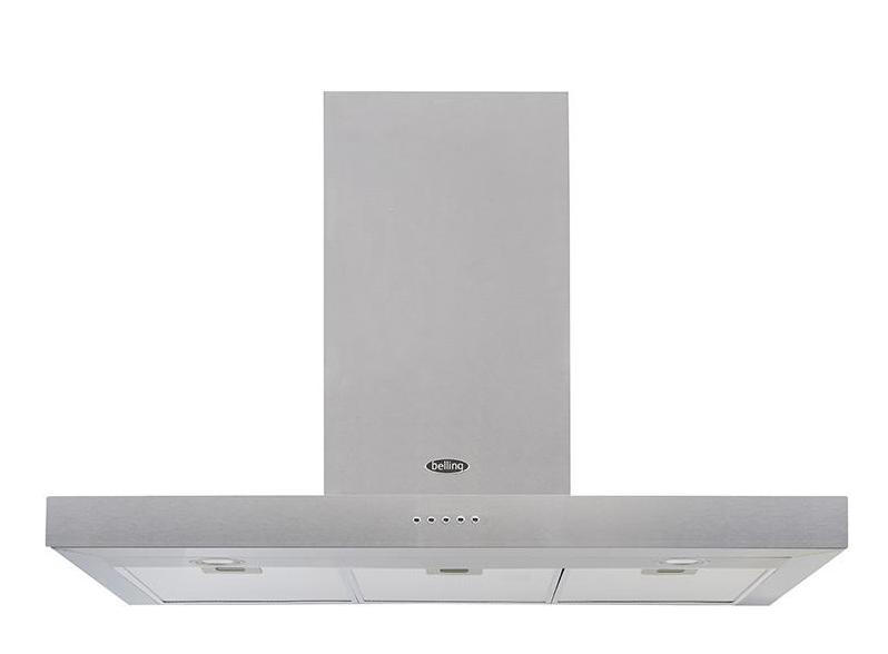Belling Cookcentre 110 Flat 110cm Chimney Hood - Stainless Steel