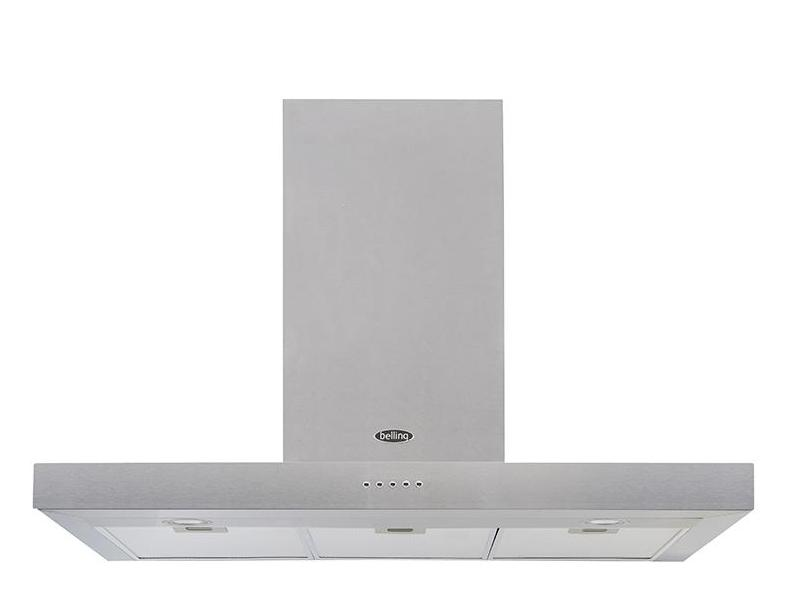 Belling Cookcentre 100 FLAT 100cm Chimney Hood - Stainless Steel