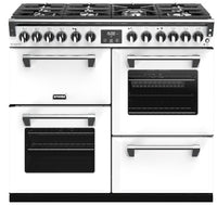 Stoves Richmond Deluxe S1000DF Dual Fuel Range Cooker - Icy White