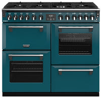 Stoves Richmond Deluxe S1000DF Dual Fuel Range Cooker - Kingfisher Teal