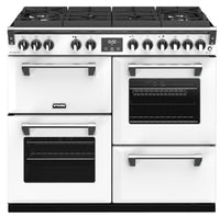 Stoves Richmond Deluxe S1000DF GTG Dual Fuel Range Cooker - Icy White