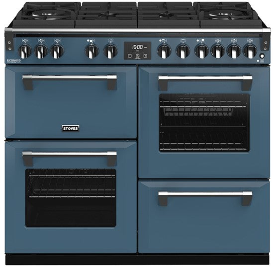 Stoves Richmond Deluxe S1000DF GTG 100cm Dual Fuel Range Cooker - Thunder Blue