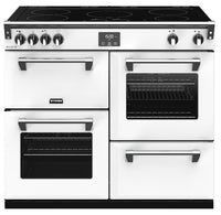 Stoves Richmond Deluxe S1000Ei 100cm Electric Range Cooker with Induction Hob - Icy White