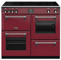 Stoves Richmond Deluxe S1000Ei 100cm Electric Range Cooker with Induction Hob - Chilli Red