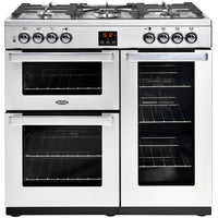 Belling Cookcentre Professional 90DFT 90cm Dual Fuel Range Cooker - Stainless Steel