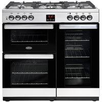 Belling Range Cooker Cookcentre 90DFT Dual Fuel Stainless Steel