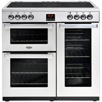 Belling Cookcentre Professional 90E 90cm Electric Range Cooker with Ceramic Hob - Stainless Steel