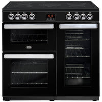 Belling Cookcentre 90E 90cm Electric Range Cooker with Ceramic Hob - Black