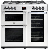 Belling Cookcentre Professional 90G 90cm Gas Range Cooker - Stainless Steel