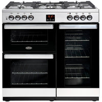 Belling Range Cooker Cookcentre 90G Gas Stainless Steel