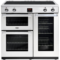 Belling Professional Cookcentre 90Ei 90cm Electric Range Cooker with Induction Hob - Stainless Steel