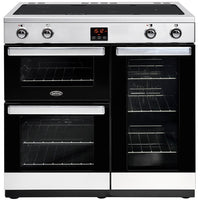 Belling Cookcentre 90Ei 90cm Electric Range Cooker with Induction Hob -  Stainless Steel