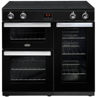 Belling Cookcentre 90Ei 90cm Electric Range Cooker with Induction Hob - Black
