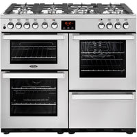 Belling Cookcentre Professional 100DFT 100cm Dual Fuel Range Cooker -  Stainless Steel