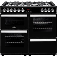 Belling Cookcentre 100DFT 100cm Dual Fuel Range Cooker - Black
