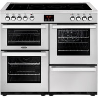 Belling Cookcentre Professional 100E 100cm Electric Range Cooker with Ceramic Hob - Stainless Steel