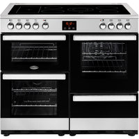 Belling Cookcentre 100E 100cm Electric Range Cooker with Ceramic Hob - Stainless Steel