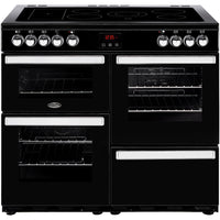 Belling Cookcentre 100E 100cm Electric Range Cooker with Ceramic Hob -  Black