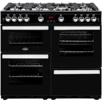 Belling Cookcentre 100G 100cm Gas Range Cooker - Black