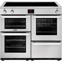 Belling Cookcentre professional 100Ei 100cm Electric Range Cooker with Induction Hob - Stainless Steel