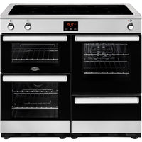 Belling Cookcentre 100Ei 100cm Electric Range Cooker with Induction - Stainless Steel