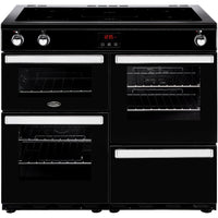 Belling Cookcentre 100Ei 100cm Electric Range Cooker with Induction - Black
