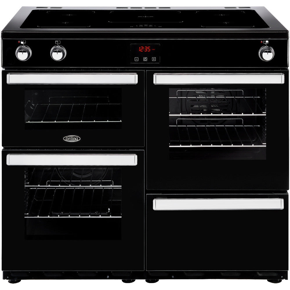 Belling Cookcentre 100Ei Electric Induction Hob Range Cooker Black - Moores Appliances Ltd.