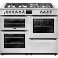 Belling Cookcentre Professional 110DFT 110cm Dual Fuel Range Cooker - Stainless Steel
