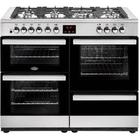 Belling Cookcentre 110DFT 110cm Dual Fuel Range Cooker - Stainless Steel