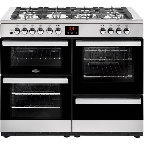 Belling Cookcentre 110DF Dual Fuel Range Cooker Stainless Steel - Moores Appliances Ltd.