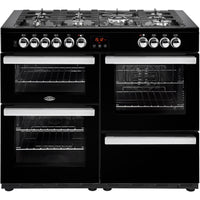 Belling Cookcentre 110DFT 110cm Dual Fuel Range Cooker - Black