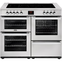 Belling Cookcentre professional 110E 110cm Electric Range Cooker with Ceramic Hob - Stainless Steel