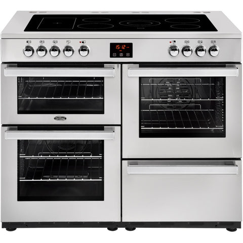 Belling Cookcentre 110E Professional Electric Ceramic Hob Range Cooker Stainless Steel - Moores Appliances Ltd.